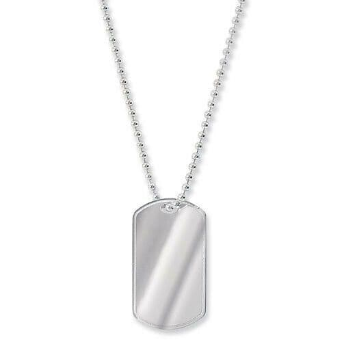 """Sterling Silver Dog Tag 24"""" Ball Chain Hallmarked 16.5 Grams Free Engraving"""